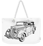 1936 Ford Phaeton Convertible Illustration  Weekender Tote Bag