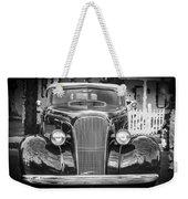 1937 Chevrolet Custom Convertible Bw Weekender Tote Bag