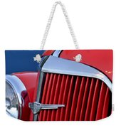 1937 Chevrolet Hood Ornament Weekender Tote Bag by Jill Reger