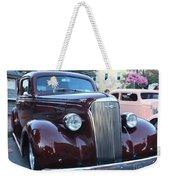 1937 Chevy Two Door Sedan Front And Side View Weekender Tote Bag