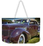 1937 Cord Phaeton Weekender Tote Bag