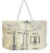1937 Fishing Knife Patent Weekender Tote Bag