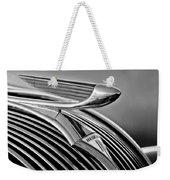 1937 Hudson Terraplane Sedan Hood Ornament 3 Weekender Tote Bag