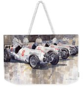 1937 Monaco Gp Team Mercedes Benz W125 Weekender Tote Bag