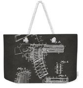 1937 Police Remington Model 8 Magazine Patent Artwork - Gray Weekender Tote Bag