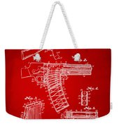 1937 Police Remington Model 8 Magazine Patent Artwork - Red Weekender Tote Bag by Nikki Marie Smith