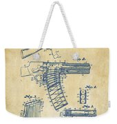 1937 Police Remington Model 8 Magazine Patent Artwork - Vintage Weekender Tote Bag by Nikki Marie Smith