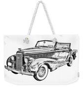 1938 Cadillac Lasalle Illustration Weekender Tote Bag