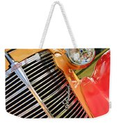 1938 Chevrolet Coupe Grille Emblems Weekender Tote Bag