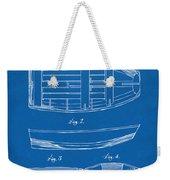 1938 Rowboat Patent Artwork - Blueprint Weekender Tote Bag