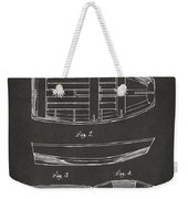 1938 Rowboat Patent Artwork - Gray Weekender Tote Bag by Nikki Marie Smith