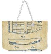 1938 Rowboat Patent Artwork - Vintage Weekender Tote Bag by Nikki Marie Smith