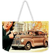 1939 - Plymouth Automobile Advertisement - Color Weekender Tote Bag