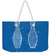 1939 Bowling Pin Patent Artwork - Blueprint Weekender Tote Bag