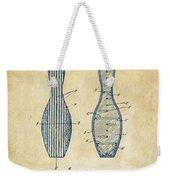1939 Bowling Pin Patent Artwork - Vintage Weekender Tote Bag