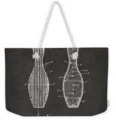 1939 Bowling Pin Patent Artwork - Gray Weekender Tote Bag