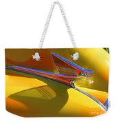 1939 Chevy Hood Ornament Weekender Tote Bag