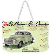 1939 Imperial Vintage Automobile Ad Weekender Tote Bag