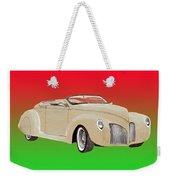 1939 Lincoln Zephyr Speedster Weekender Tote Bag by Jack Pumphrey