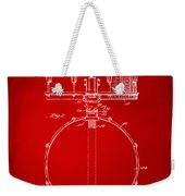1939 Snare Drum Patent Red Weekender Tote Bag