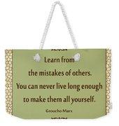 194- Groucho Marx Weekender Tote Bag