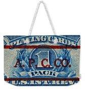 1940-1965 Internal Revenue Playing Cards Stamp Weekender Tote Bag