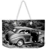 1940 Chevrolet Special Deluxe 4 Door Weekender Tote Bag