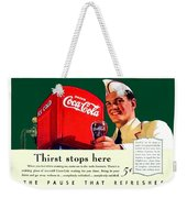 1940 - Coca-cola Advertisement - Color Weekender Tote Bag