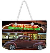 1940 Ford Deluxe Coupe At Mickeys Dinner  Weekender Tote Bag