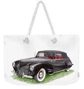 Lincoln Zephyr Cabriolet Weekender Tote Bag