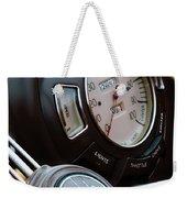 1938 Lincoln-zephyr Continental Cabriolet Steering Wheel Emblem -1817c Weekender Tote Bag