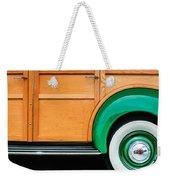 1940 Packard 120 Woody Station Wagon Wheel Emblem Weekender Tote Bag