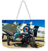 1940 Triumph And Supermarine Mk959 Spitfire  Weekender Tote Bag