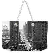 1940s Downtown Skyline Michigan Avenue Weekender Tote Bag