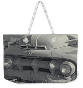 1940's Ford Truck Black And White Weekender Tote Bag