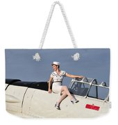 1940s Style Pin-up Girl Sitting Weekender Tote Bag