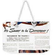 1941 - Chrysler Convertible Automobile Advertisement - Color Weekender Tote Bag