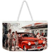 1941 - Ford Super Deluxe Automobile Advertisement - Color Weekender Tote Bag