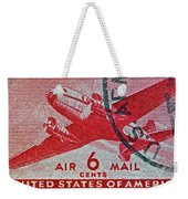 1941 - 1944 Six Cents Air Mail Stamp -  U. S. Army Cancelled Weekender Tote Bag