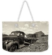 1941 Chevy Truck In Sepia Weekender Tote Bag