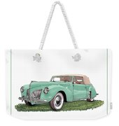1941 Lincoln V-12 Continental Weekender Tote Bag