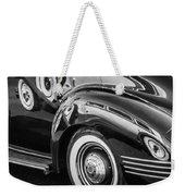 1941 Packard 110 Deluxe -1092bw Weekender Tote Bag