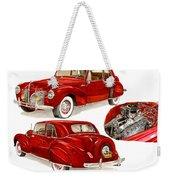1941 V 12  Lincoln Continental Weekender Tote Bag