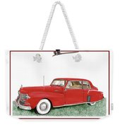 1942 Lincoln Continental Coupe Weekender Tote Bag