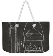 1943 Chris Craft Boat Patent Artwork - Gray Weekender Tote Bag