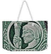 1943 Freedom Of Speech And Religion Stamp Weekender Tote Bag