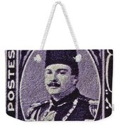 1944 King Farouk Egypt Stamp  Weekender Tote Bag
