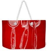 1944 Microphone Patent Red Weekender Tote Bag