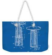 1944 Wine Corkscrew Patent Artwork - Blueprint Weekender Tote Bag