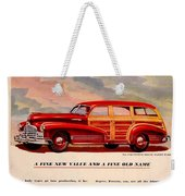 1946 - Pontiac Woodie Station Wagon And Convertible Advertisement - Color Weekender Tote Bag